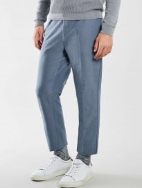 Topman Blue Cropped Trousers