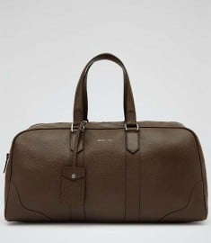 Reiss Centureous Small 24 Hour Holdall Dark Brown
