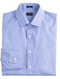 J. Crew Crosby Shirt In Blue Microgingham