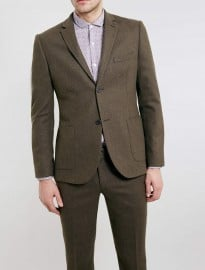 Topman Brown Flannel Heritage Suit