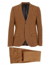 Topman Camel Slim Fleck Two Piece Suit