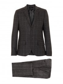 Topman Grey Checked Suit