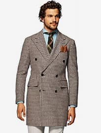 Suitsupply Brown Double Breasted Coat