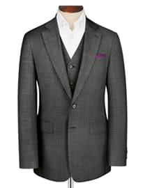 Grey Apsley Sharkskin Classic Fit Business Suit