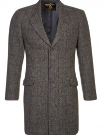 Harris Tweed Clothing Murdo - Classic Coat - Blue