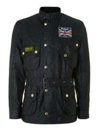 Barbour Union Jack Lined Motorcycle Jacket
