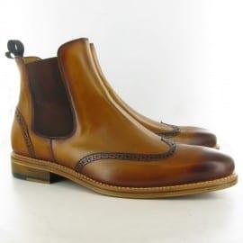 Jake 980 Brogue Chelsea Boots Tan