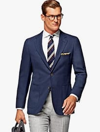 Suitsupply Havana Blue Plain