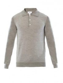 Brioni Wool And Silk-blend Polo Top 181448