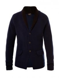 Jil Sander Shawl-neck Ribbed-knit Cardigan 169704