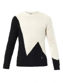 Kenzo Mountain Style Contrast Crew-neck Sweater 163774