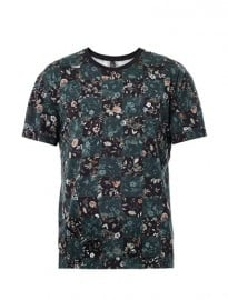 Mcq Alexander Mcqueen Floral And Chequer Board-print T-shirt 167018