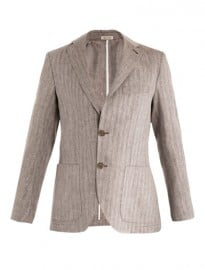 Mr. Rick Tailor Herringbone Single-breasted Linen Jacket 148380