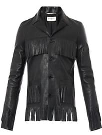 Saint Laurent Curtis Tasselled Leather Jacket 205941