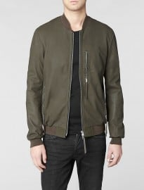 Allsaints Sonar Leather Bomber Jacket