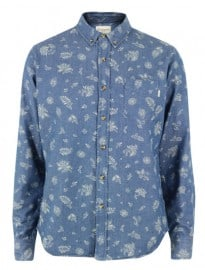 Obey Dharma Blue Shirt