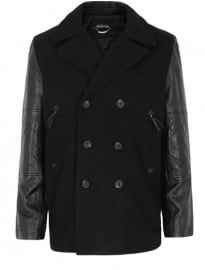 Religion Portland Black Peacoat