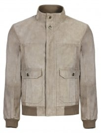 Collezione Online Only Suede Bomber Jacket