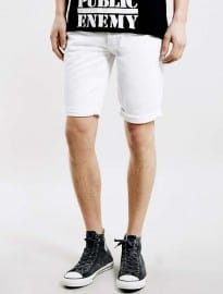 Topman White Skinny Fit Denim Shorts