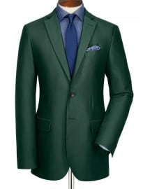 Green Oxford Unstructured Slim Fit Jacket