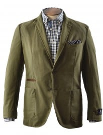 Olive Green Wax Coated Cotton Jacket