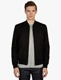 A.p.c. Men's Black Croft Ii Bomber Jacket