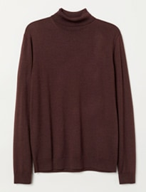 H&m Merino Wool Polo-neck Jumper