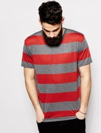Cheap Monday T-shirt Alexei Stripe Melange