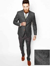 Asos Slim Fit Suit In Herringbone