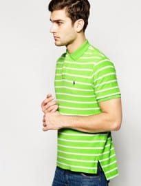 Polo Ralph Lauren Polo Shirt In Custom Fit Stripe Toweling
