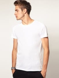 Asos T-shirt With Raw Edge Crew Neck