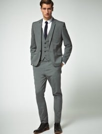 Asos Slim Fit Grey Suit