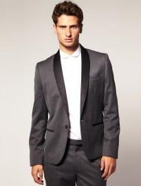 Asos Slim Fit Grey Tuxedo Suit Jacket