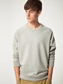 Suit Basic Elbow Patch Sweatshirt