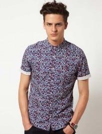 Asos Short Sleeve Shirt With Nautical Print