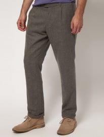 Farah Vintage Slim Trouser In Wool Mix