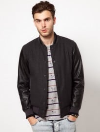 Asos Wool Baseball Jacket