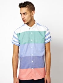 Barbour Shirt With Colour Block