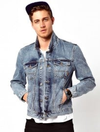 Asos Denim Jacket With Acid Wash