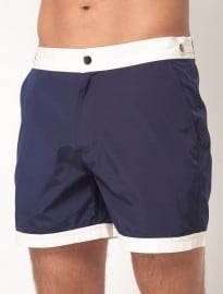 Asos Swim Shorts With Contrast Waistband And Hems