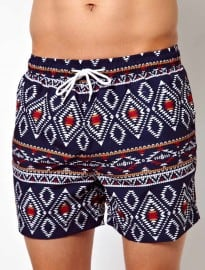 Bellfield Aztec Print Swim Shorts