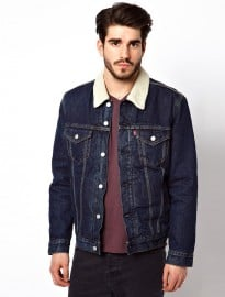 Levis Denim Jacket Foley Trucker With Sherpa Lining