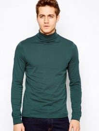 Asos Long Sleeve T-shirt With Roll Neck