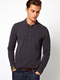 Asos Polo Shirt With Long Sleeves