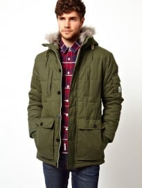 Voi Padded Parka Jacket With Hood