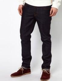 Nudie Slim Fit Jeans Grim Tim In Dark Navy Wash