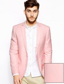 Asos Slim Fit Blazer In Oxford
