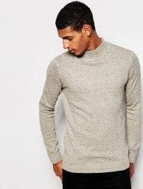 Selected Homme Turtle Neck Jumper With Fleck