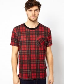 River Island T-shirt In Tartan Check