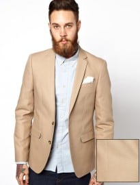 Asos Slim Fit Blazer In Cotton